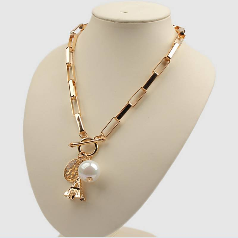 Wholesale Jewelry Gold Long Chain Pearl Necklace Necklace Chain