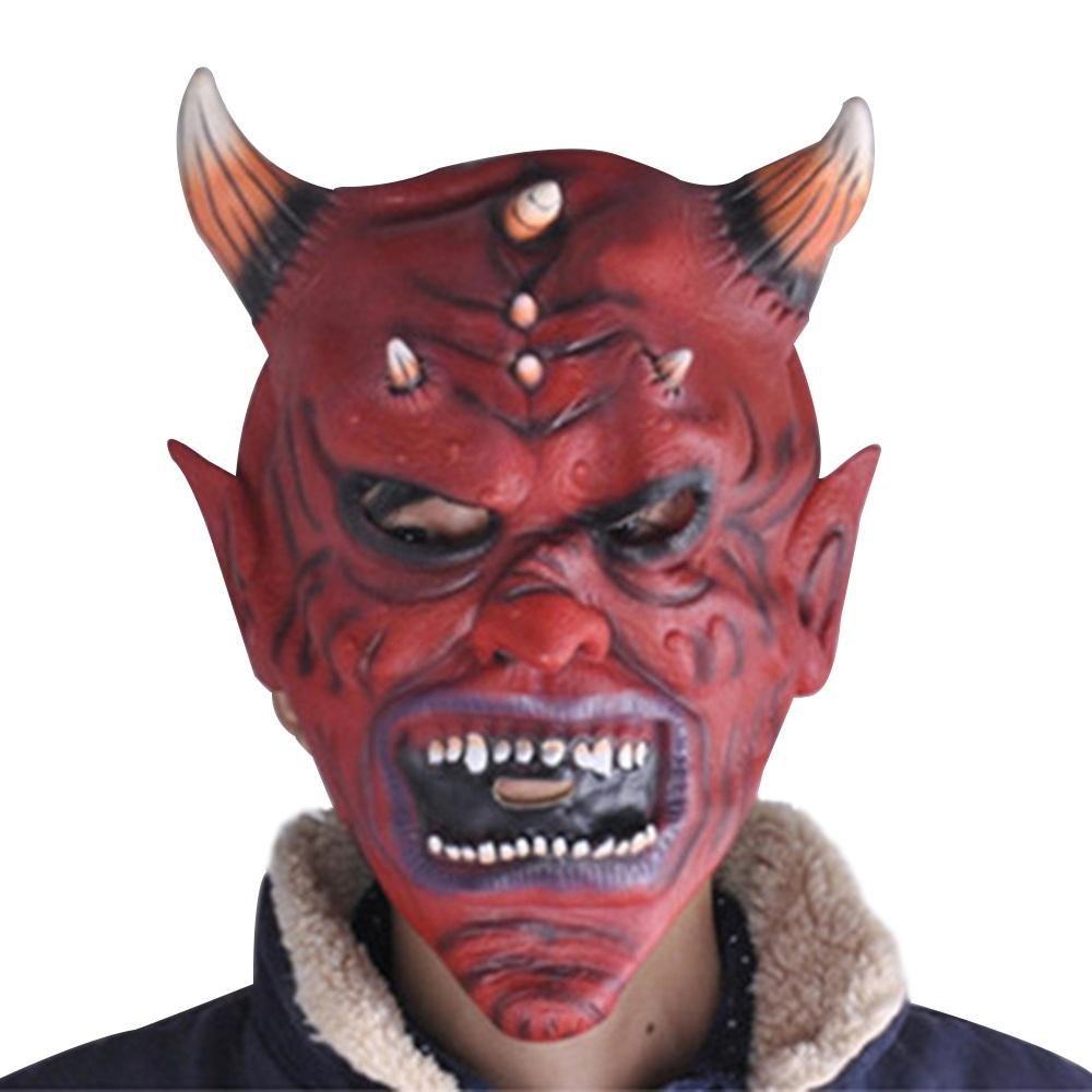 niceEshop(TM) Halloween Ox Horn Skull Mask Scary Monster Mask Halloween Costume Cosplay Party Props, Latex 12x8''