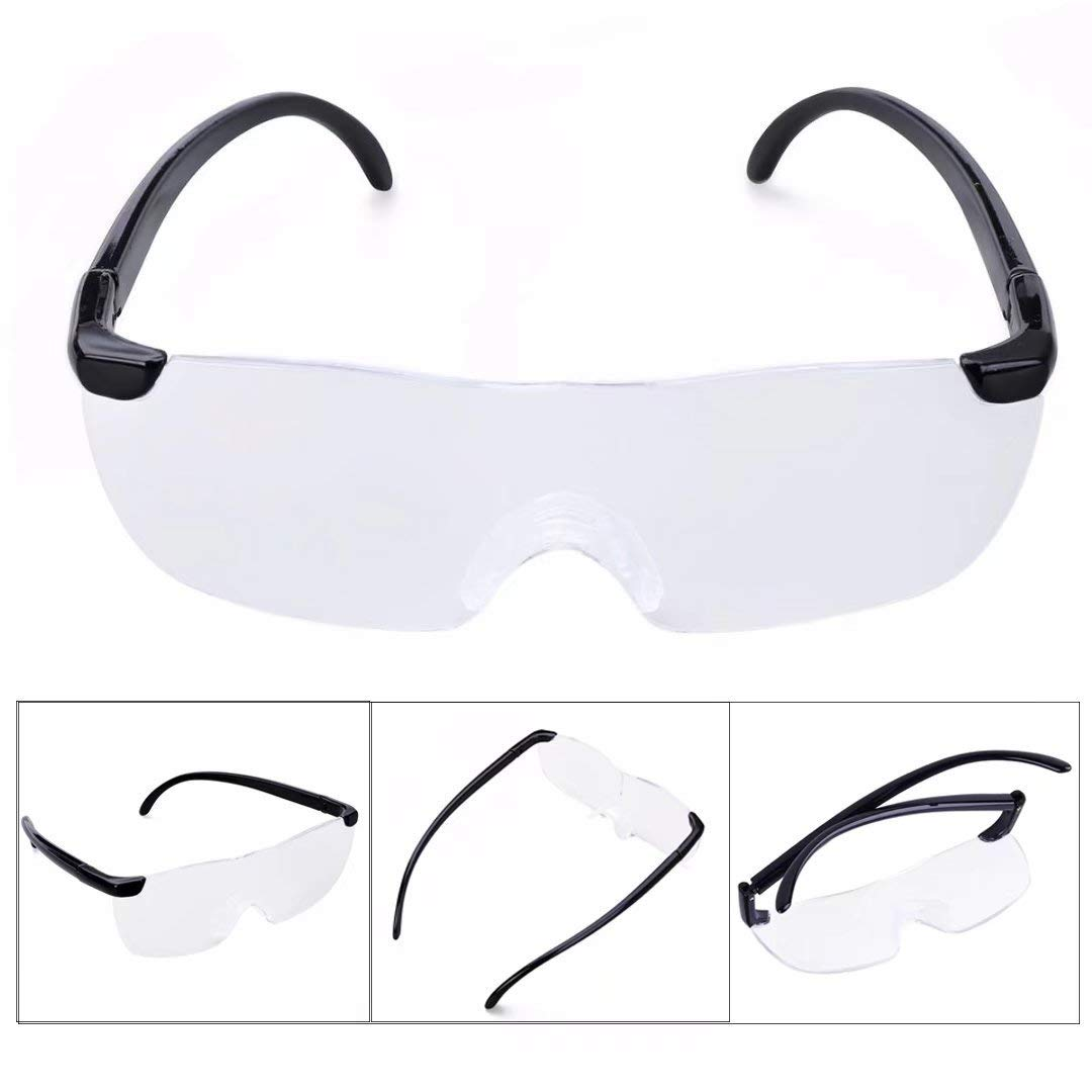 d775567b3719 Get Quotations · Paddsun Big Vision plastic glasses 160 degrees Magnifying  Eyewear That Makes Everything Bigger and Clearer