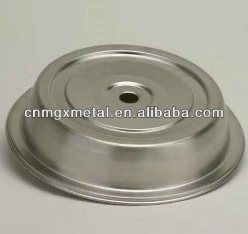 custom OEM plate cover in stainless steel spinning part