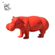 Chinese style life size modern outdoor garden decoration fiberglass hippo statue for sale FSM-28