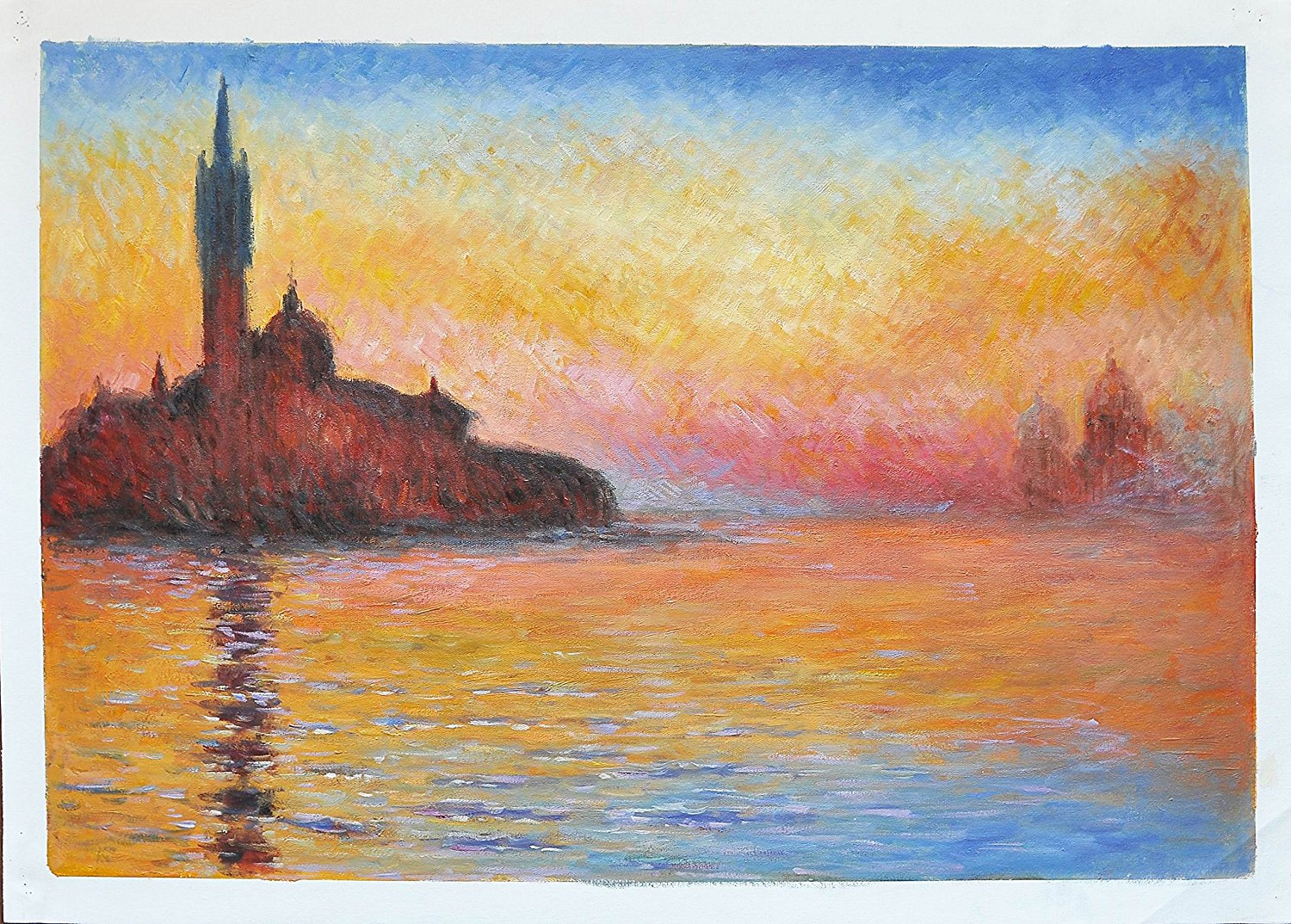 buy roya art san giorgio maggiore at dusk hand painted. Black Bedroom Furniture Sets. Home Design Ideas