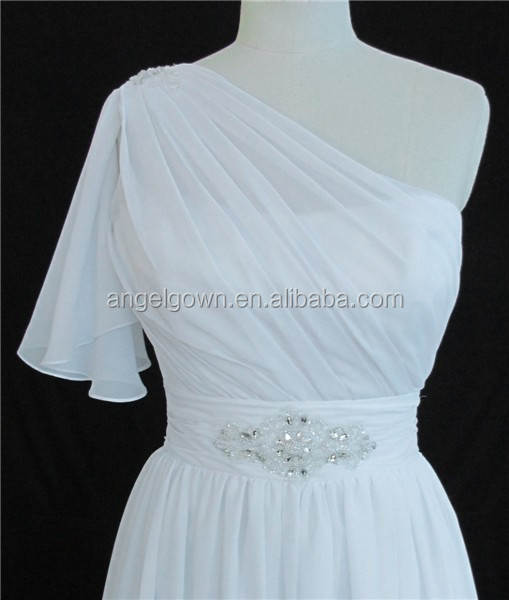 Classical ruched wedding dress detachable straps beaded wedding dress gossamer wedding dress