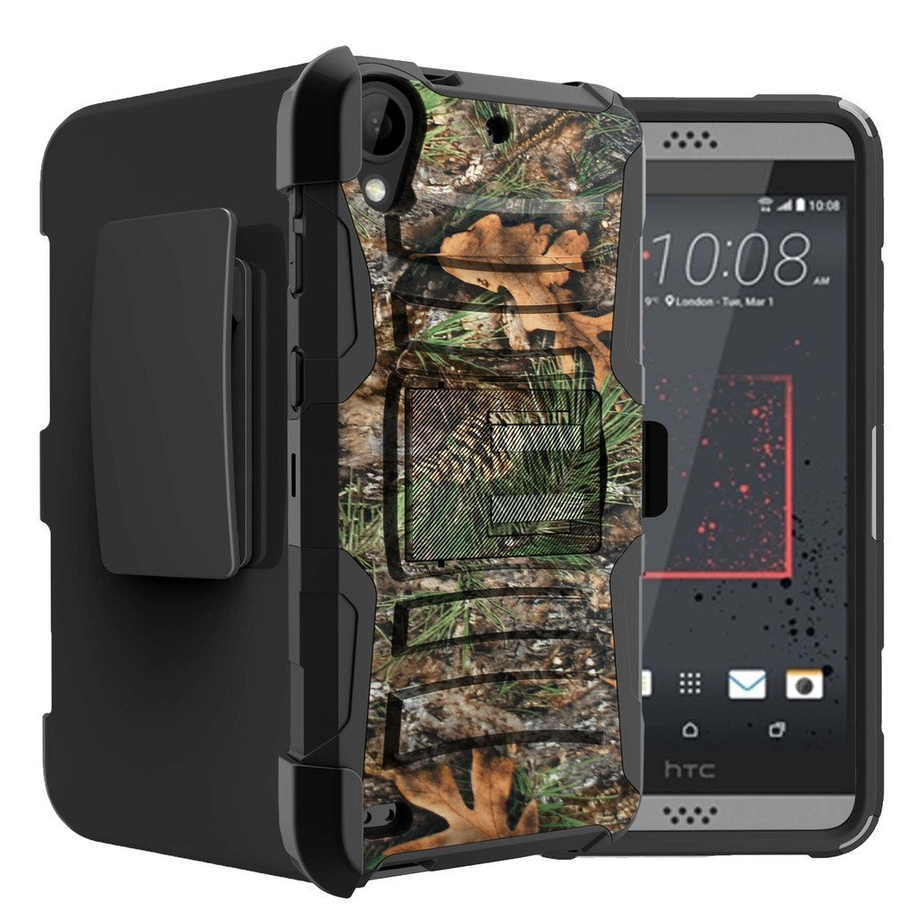 Untouchble Case for HTC Desire 530| HTC Desire 630 Tree Camo [Heavy Duty Clip]- Shockproof Swivel Holster Case with Built in Kickstand - Tree Camo Branch