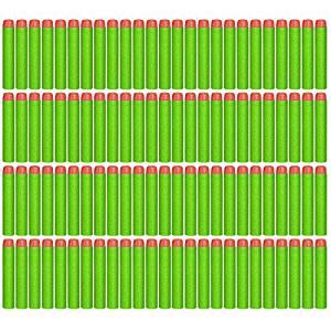 CloudCloud 100 Pcs Foam Darts for Nerf N-strike Elite Series Blasters Toy Gun (Green) Color: Green, Model: , Toys & Play