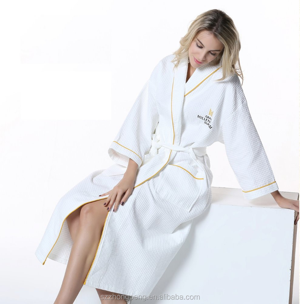 wholesale custom logo Luxury hotel terry cloth bath robe