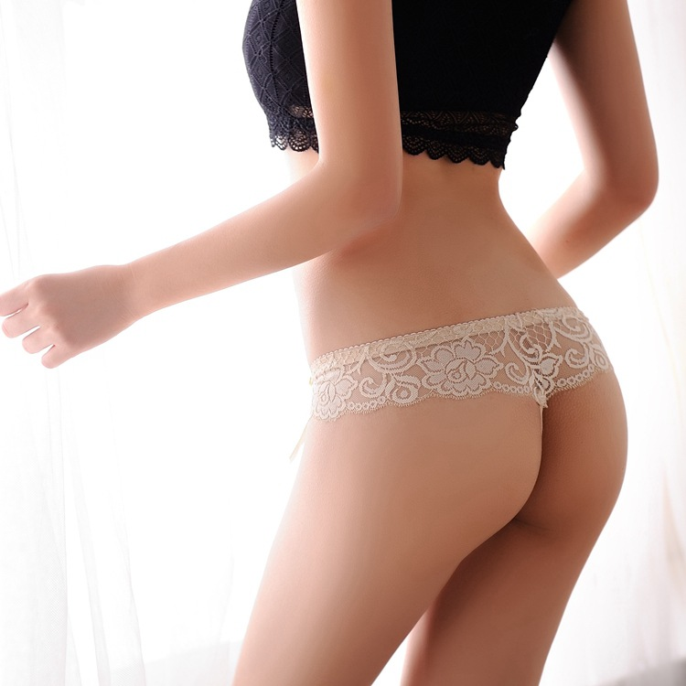 bd4c699d5581 Hot Women Sexy Panties Lace Transparent Seamless Underwear Lady T Pants Low  Waist Briefs For Femail Bowknot Thong