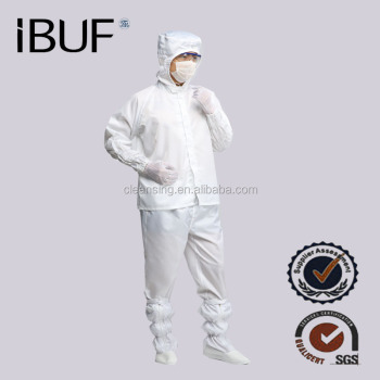 Flat Top Electronics Factory Cleanroom Antistatic Coverall Suit Clean Clothes