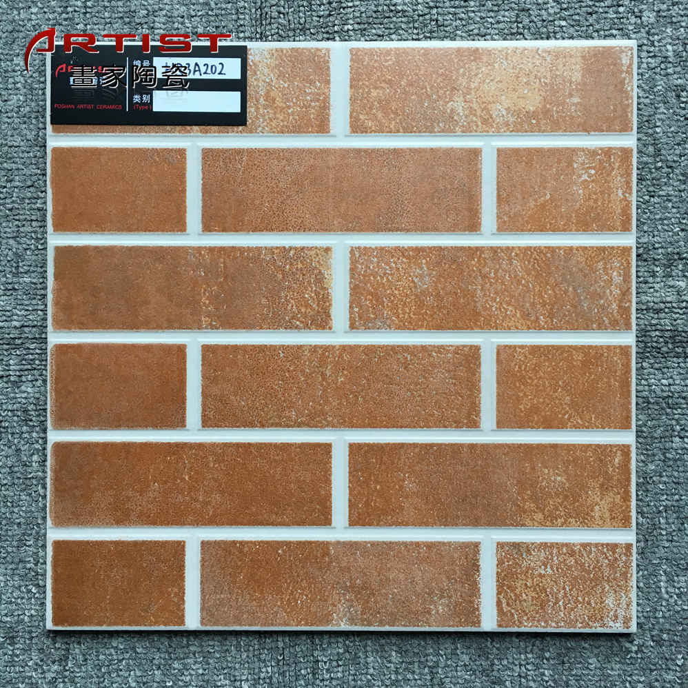 West Africa free tile samples ceramic floor tile 300x300mm dark red non slip glazed tile