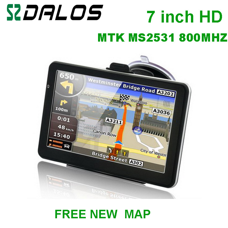 "7"" GPS Navigation,Windows CE 6.0,AV-in,600MHZ,128MB SDRAM,Built-in 4GB Flash Memory, Bluetooth, ISDB"