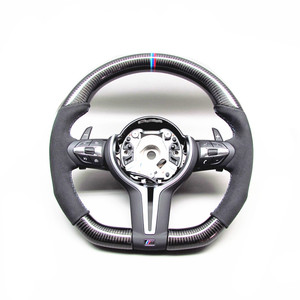 AUTO RACING CAR STEERING WHEEL 3M Ring FOR BMW M3 M4 F80 F82 X5M X6M CARBON FIBER STEERING WHEEL