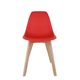 High Quality Cheap Dining Plastic Chair With Wood Leg