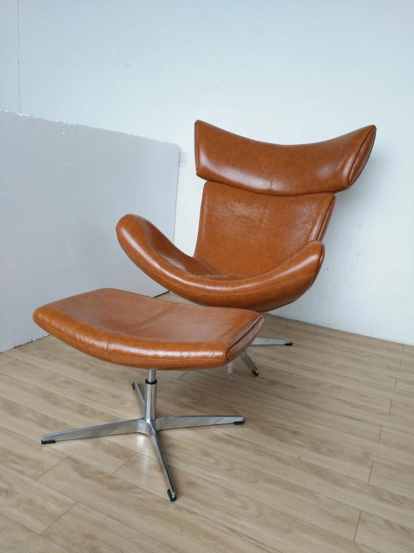 Imola Chair With Stool Vintage Chair Single Sofa Chair
