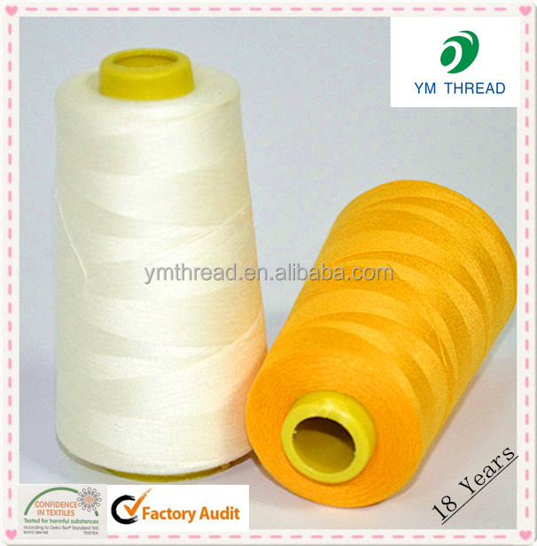 Manufacture 40/2 5000 yards Spun Polyester Yarn For Sewing