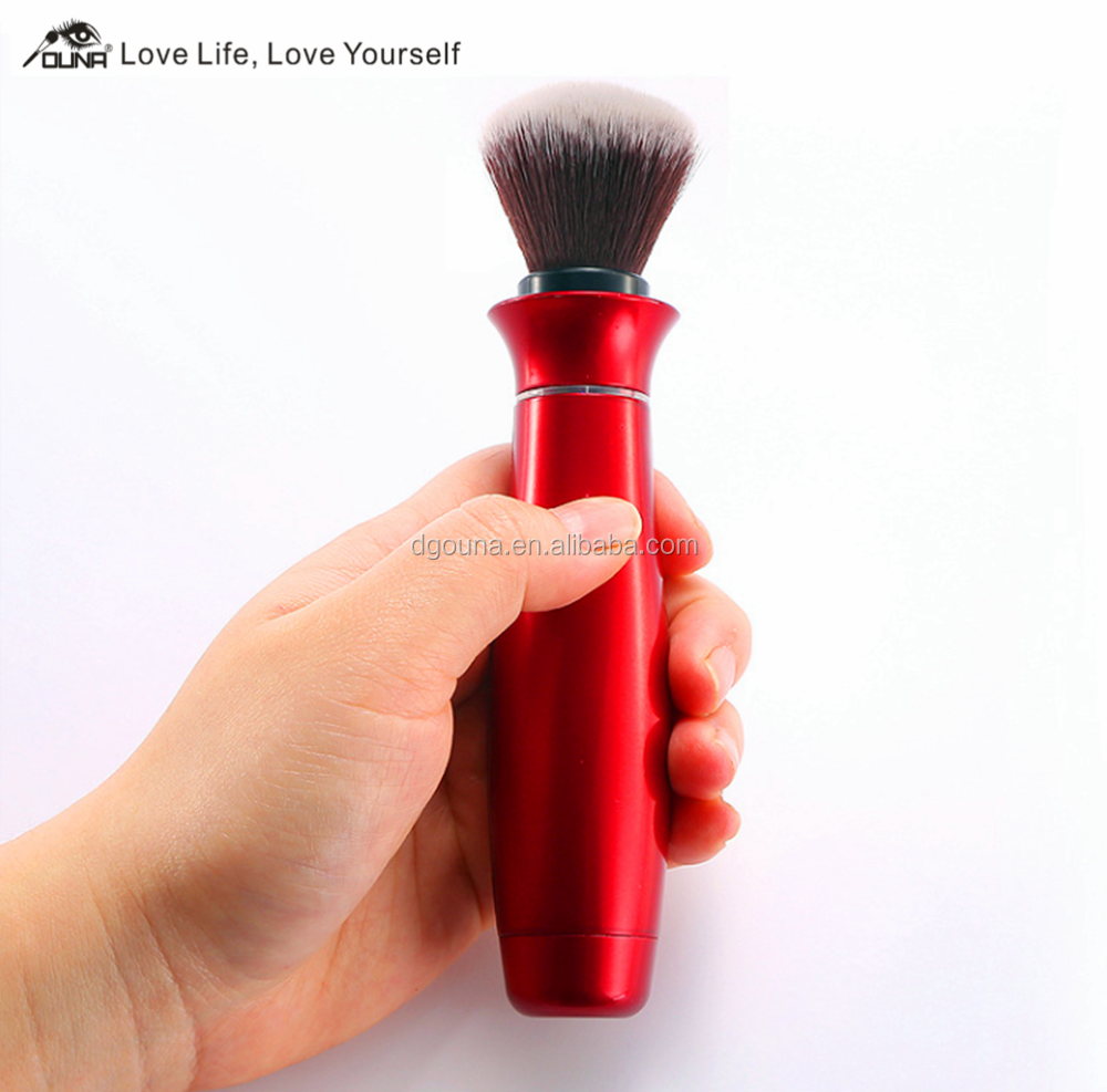 New arrived high quality fashion shape red electrical makeup brush,powder brush,cosmetic brush