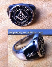 (30209) silver plated high quality Brass signet masonic rings discount