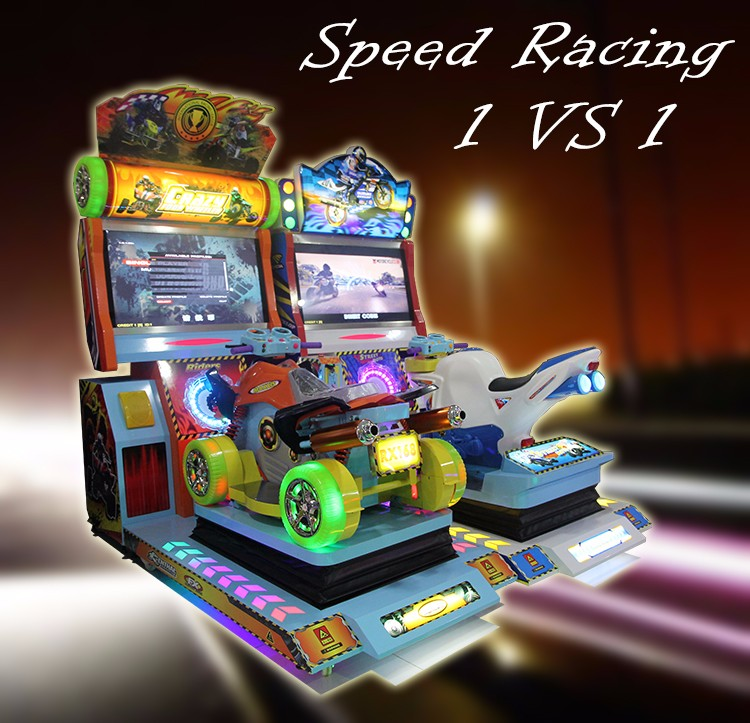 2 players 4 wheels arcade racing game mahcine racing car video games machine for kids