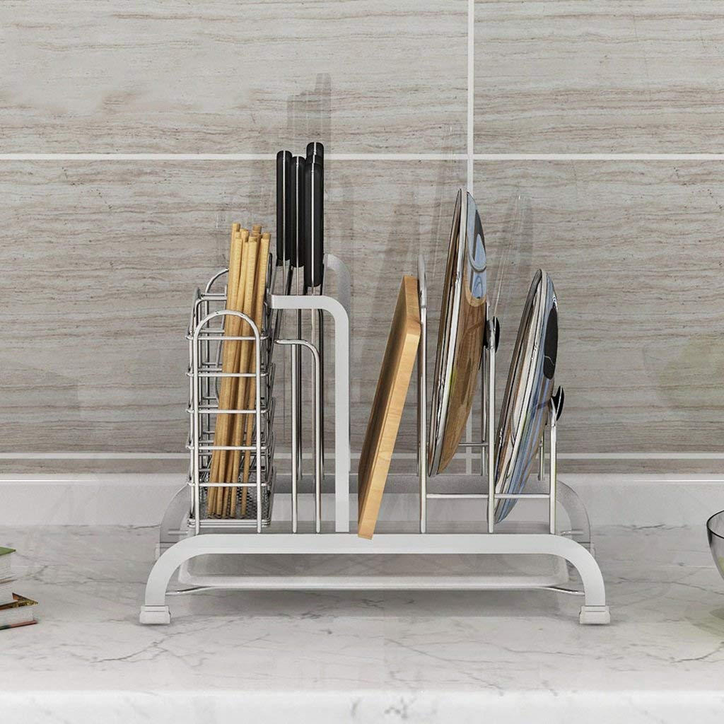LXsnail 304 Stainless Steel Multi - Purpose Kitchen Racks Kitchen Supplies Chopping Board Chopsticks Cage Cutting Board Pot Rack