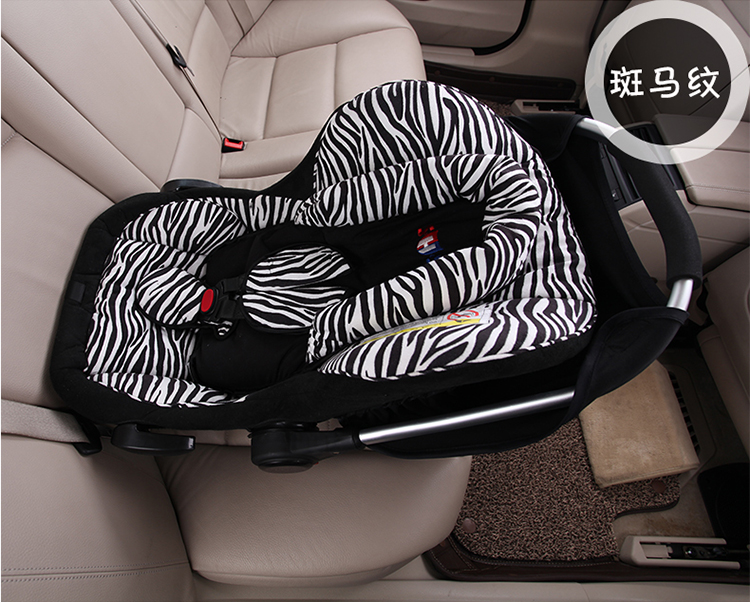 Large Loading Capacity Hdpe/knitted Fabric Safety Portable Baby Car Seat,zebra-stripe fashion infant car seat