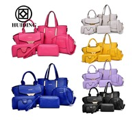 2016 Newly designed fashionable six bags in one set women dinner bag wholesale ladies totes handbags