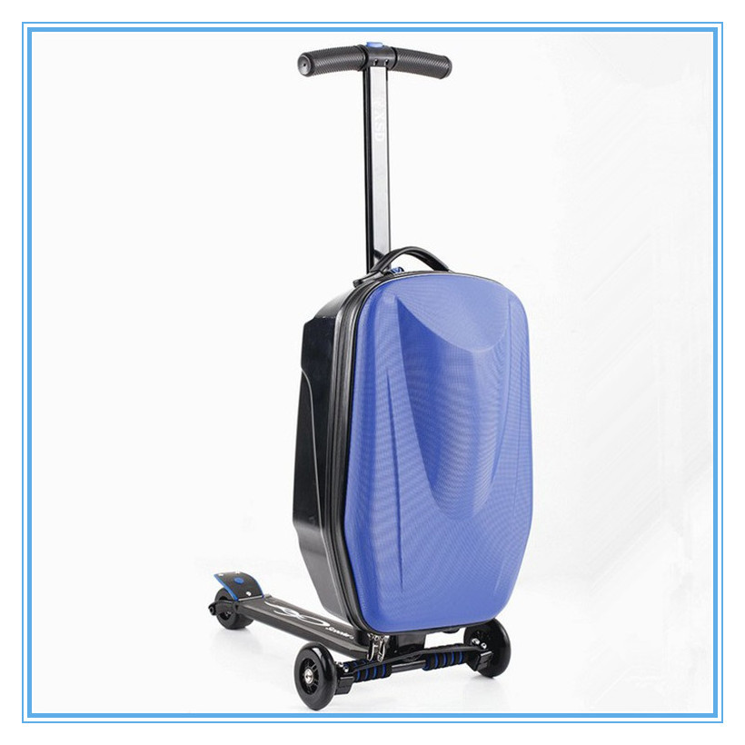 Hot Sale Magical Foldable Scooter Luggage Carrier Scooter Suitcase ...
