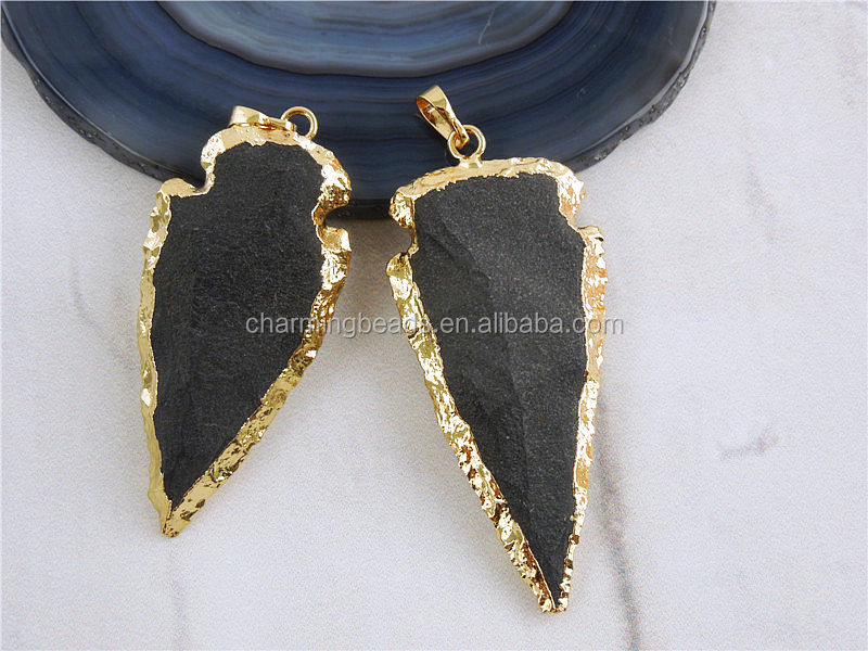 Ch-zap0783 Hot Sale Jasper Arrowhead Pendant Jewelry,Semi Precious ...