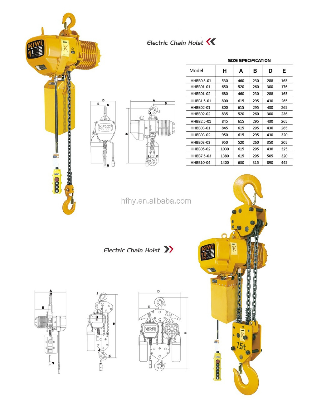 kito type cantilever mini electric chain hoist 250kg with. Black Bedroom Furniture Sets. Home Design Ideas