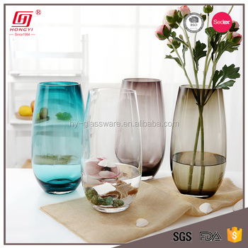 Wholesale Cheap Lead Free Colored Home Goods Decorative Flower Glass