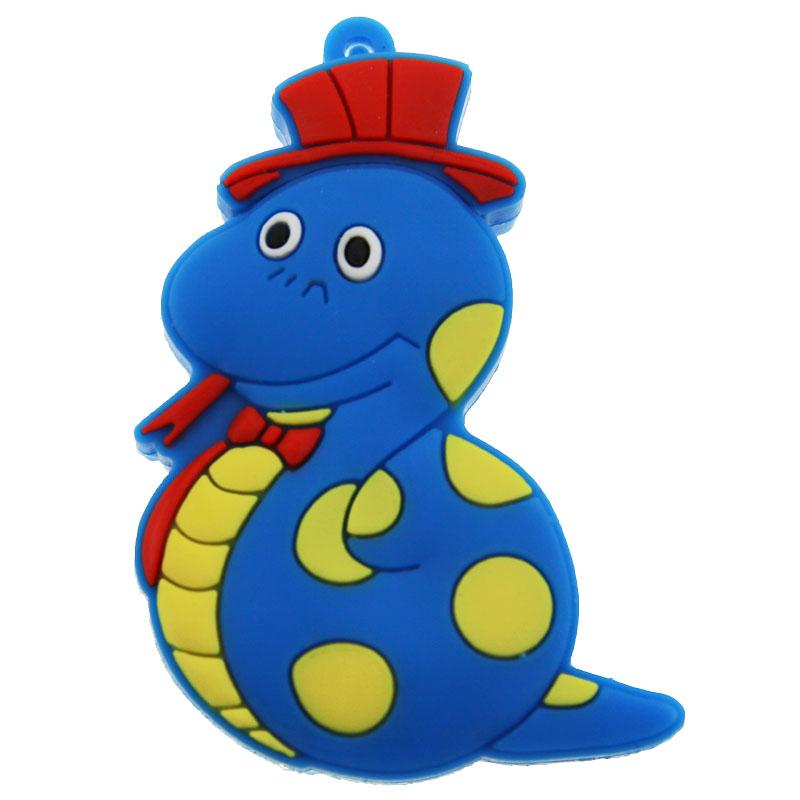 Aver Blue Cartoon Plastic Snake 2 0 USB Flash Drive 128M 256M 512M 1GB 2GB