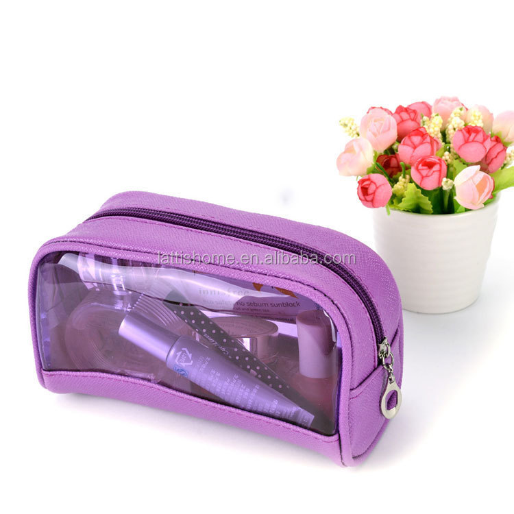 promotion eco recycled custom printed transparent waterproof plastic zipper pvc makeup bag