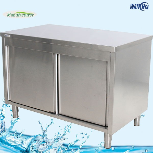 Commercial kitchen base cabinet in singapore stainless steel kitchen cupboard dish cabinet china - Commercial stainless steel kitchen island ...