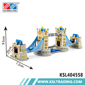 Intelligence hot sale 33pcs london bridge diy 3d paper puzzle