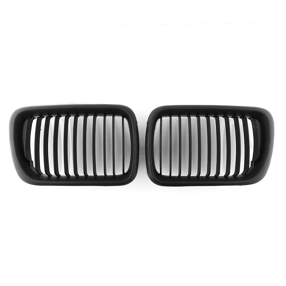 Matte Black Front Kidney Grille 1997 1998 1999 BMW E36 3 Series Sedan Coupe Convertible