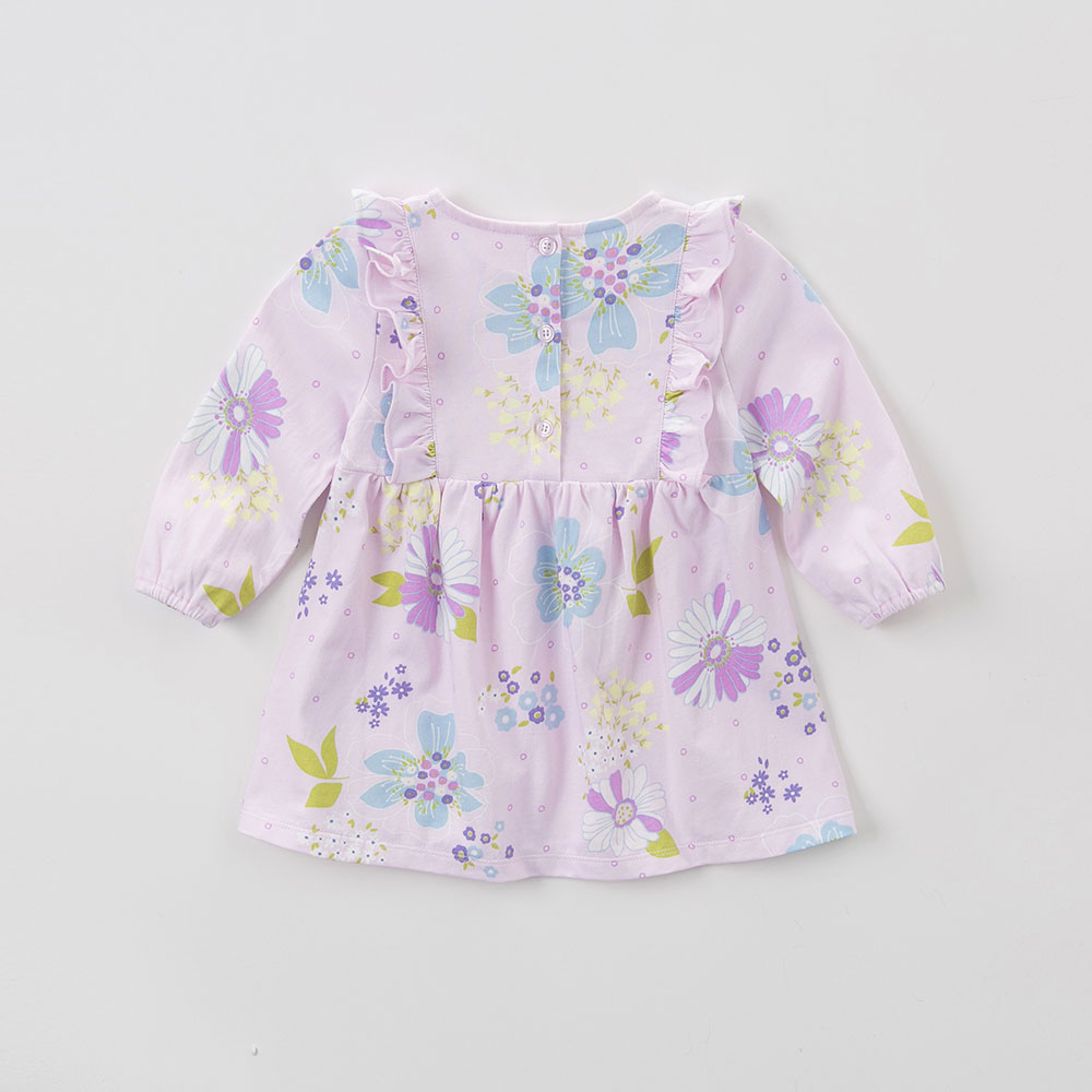 DB5853 DAVEBELLA autumn new girls cotton floral dress princess dress children boutique dress floral dress