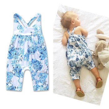 cf424cc822b6 Baby Clothes For Newborn Summer Girls Printed Rompers Lace Jumpsuit Baby  Girl Flower Causal Romper