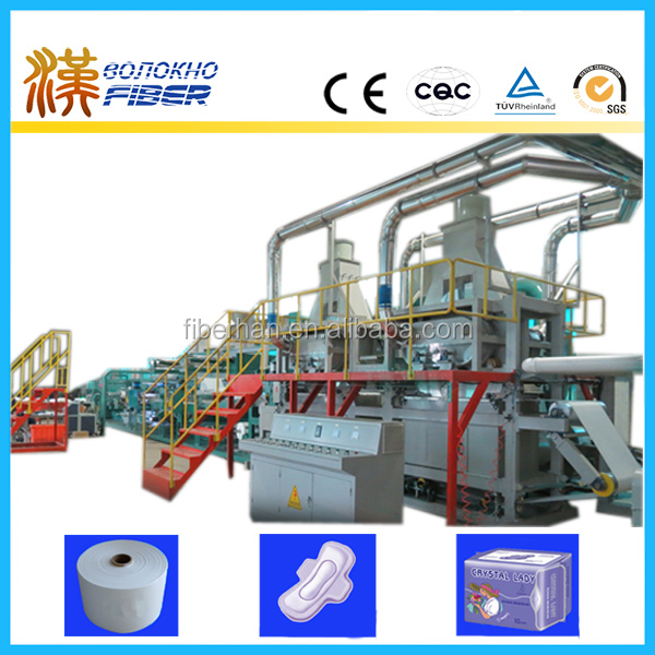 Airlaid sanitary pad production equipment, Airlaid sanitary pad making machine