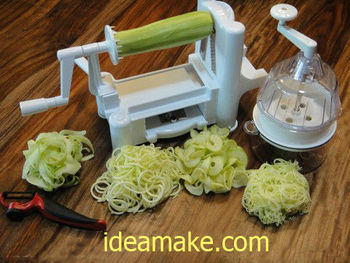 zucchini noodle maker as seen on tv new 2013 buy zucchini noodle maker vegetable slicer as. Black Bedroom Furniture Sets. Home Design Ideas