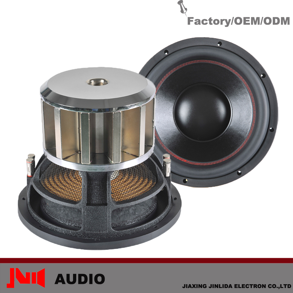 High Performance 3000w Neodymium Magnetical Power Motor SPL Car Subwoofer