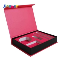 Jinayon Rose Pink Color Luxury Custom Magnetic Lid Storage Wallet Cosmetic Gift Box with Logo
