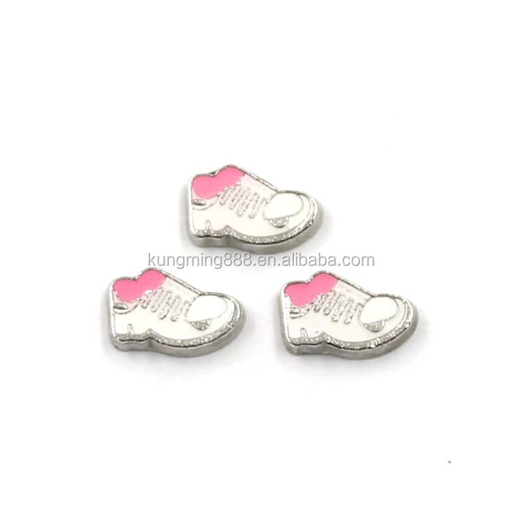 Free Sample Running Shoe Shape Charms,Metal Shoe Floting Charms Wholesale