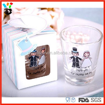 Cute Souvenir Shot Gl Individual Gift Packaging Personalized Wedding Favor