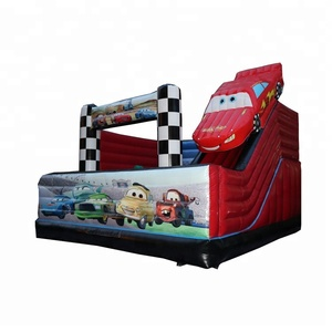 Red car theme inflatable bouncer jumping bouncy house slide combo slide for amusement park