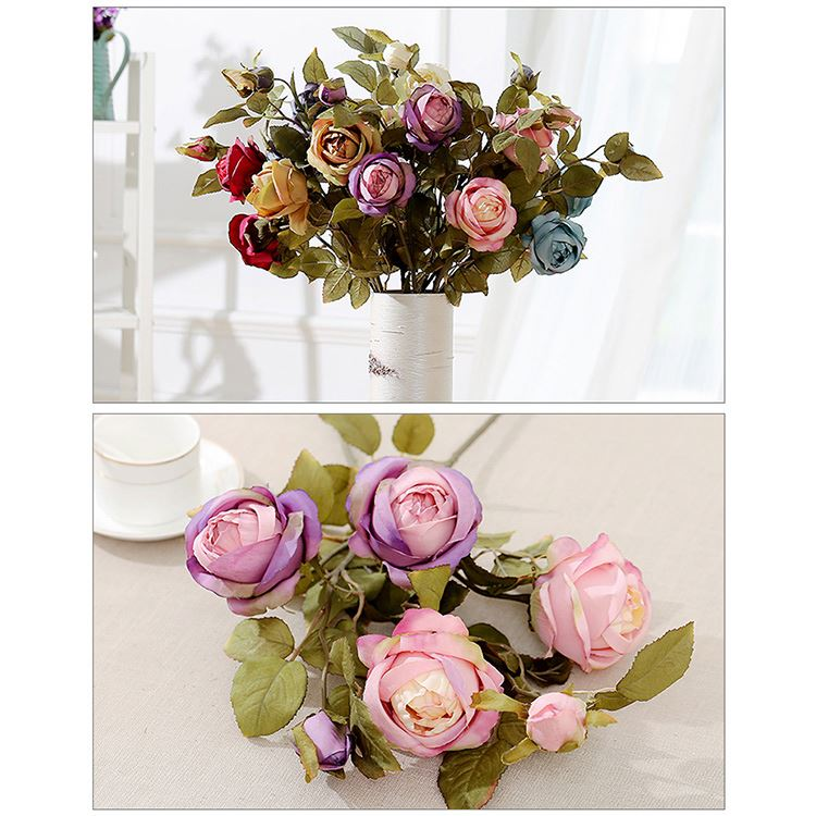 Exquisite OEM quality comfortable natural touch silk flowers artificial wedding