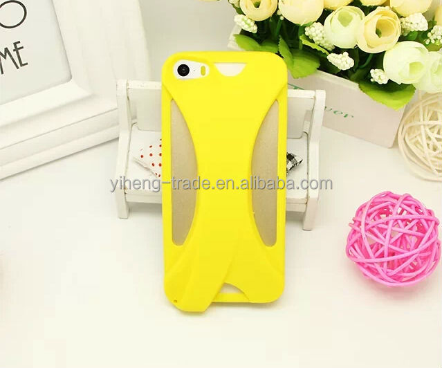 2014 New Product Colorful Soft Silicon Phone Speaker Case For iPhone5 High quality Case For iPhone5