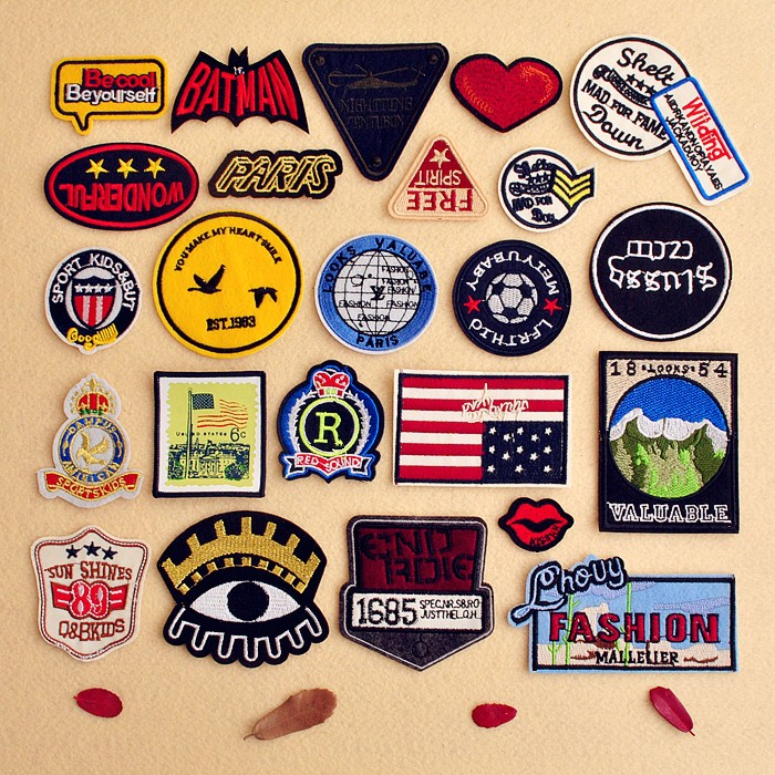 high quality ECO-Friendly custom Embroidery Patch brand patch