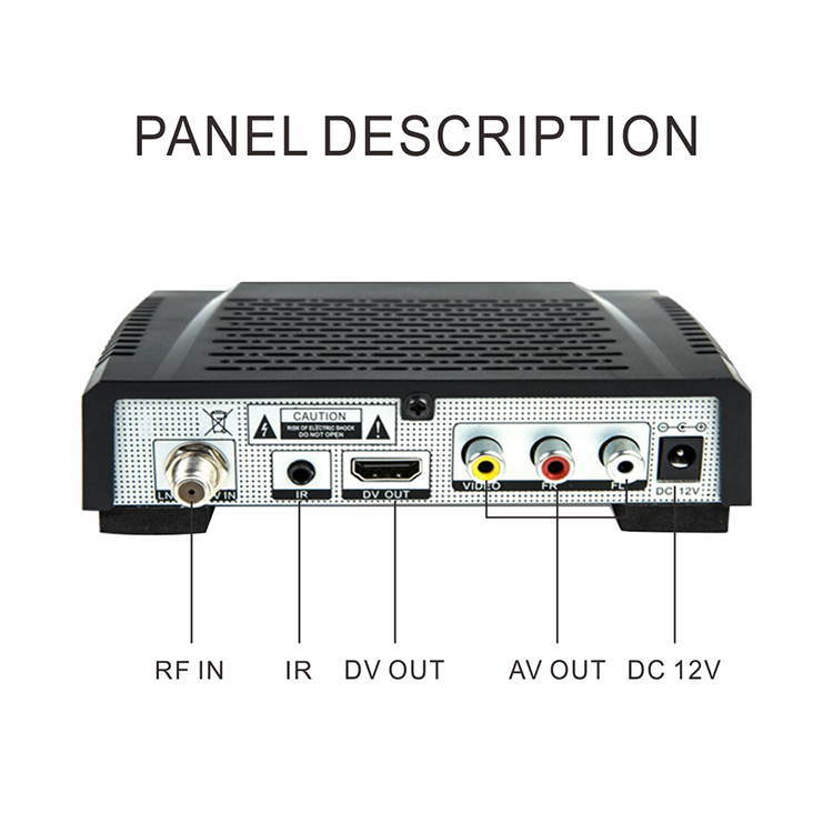 Desain baru FTA dvb-s2 MPEG4 H.264 full HD digital satellite receiver