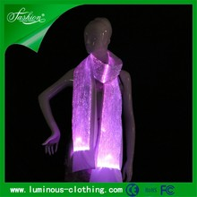 fiber optic clothing newest led light up luminous lady shawl and scarf 2015