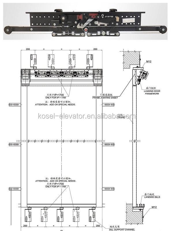 Selcom Mechanism For Elevator Doors/automatic Lift Door System ...