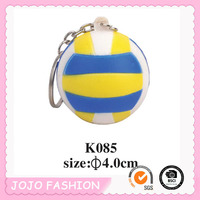 Promotion gift cheap PU sport volleyball keychain/