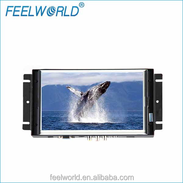 8inch open frame widescreen lcd monitor with HDMI VGA RCA DVI input